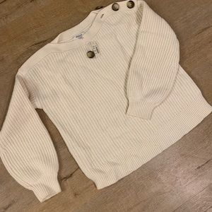 Madewell Cable Knit Sweater w/ Buttons